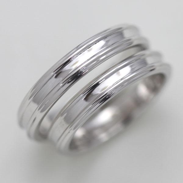 【SALE★30%以上OFF!】 【ポイント優待】 結婚指輪 ペアリング K18WG シンプルリング マリッジリング サンキュークーポン