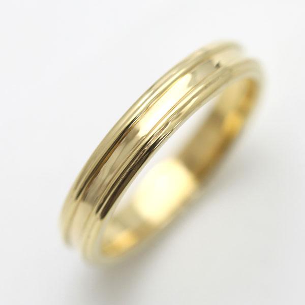 結婚指輪 K18YG シンプルリング マリッジリング レディースリング サンキュークーポン