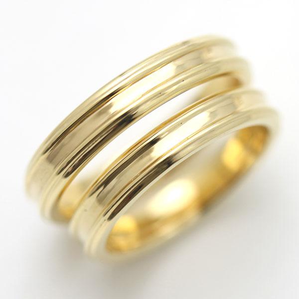結婚指輪 K10YG シンプルリング マリッジリング ペアリング