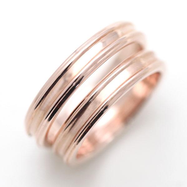 結婚指輪 ペアリング K10PG シンプルリング マリッジリング サンキュークーポン