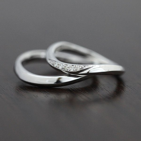 結婚指輪 ペアリング K10WG ダイヤモンド 0.05ct マリッジリング ホワイトゴールド サンキュークーポン