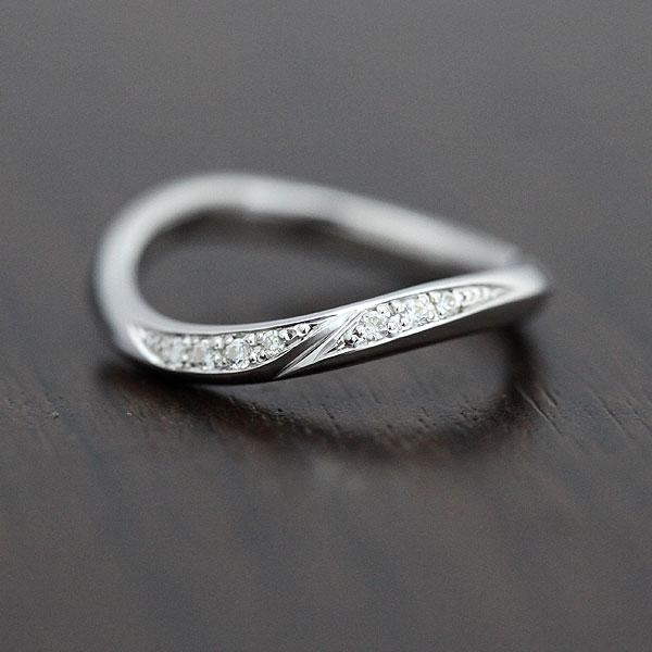結婚指輪 K18WG ダイヤモンド 0.07ct ホワイトゴールド レディースリング ギフト プレゼント 彼女 サンキュークーポン
