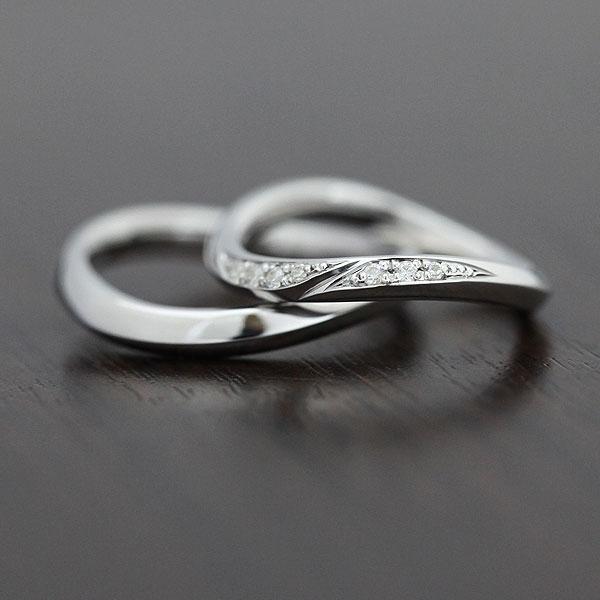 結婚指輪 プラチナ PT900(Pt90%) ダイヤモンド 0.07ct マリッジリング ペアリング