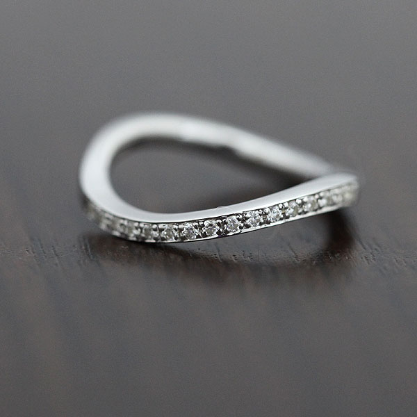 【SALE★30%以上OFF!】 【ポイント優待】 結婚指輪 K18WG ダイヤモンド 0.18ct ホワイトゴールド ハーフエタニティ レディースリング サンキュークーポン