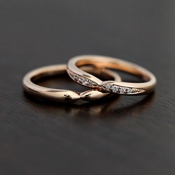 【SALE★30%以上OFF!】 【ポイント優待】 結婚指輪 ペアリング K10PG ダイヤモンド 0.07ct マリッジリング ピンクゴールド クロス サンキュークーポン