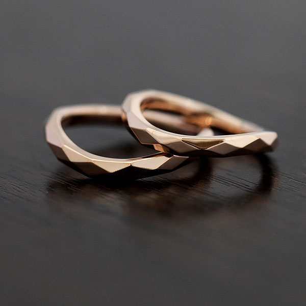 【SALE★30%以上OFF!】 【ポイント優待】 結婚指輪 ペアリング K10PG マリッジリング ピンクゴールド ミラーカット サンキュークーポン