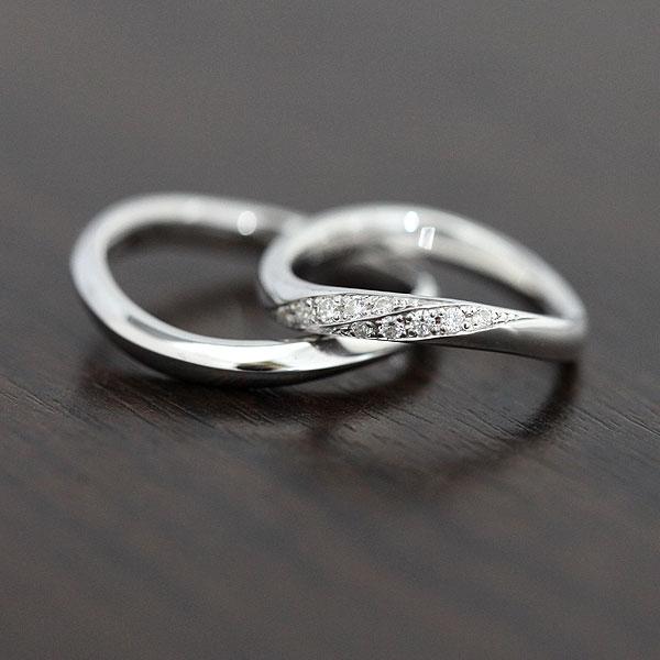 【SALE★30%以上OFF!】 【ポイント優待】 結婚指輪 ペアリング K10WG ダイヤモンド 0.10ct ホワイトゴールド マリッジリング サンキュークーポン