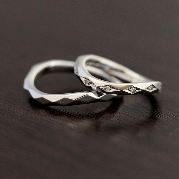 【SALE★30%以上OFF!】 【ポイント優待】 結婚指輪 ペアリング K10WG マリッジリング ダイヤモンド 0.04ct ホワイトゴールド ミラーカット サンキュークーポン
