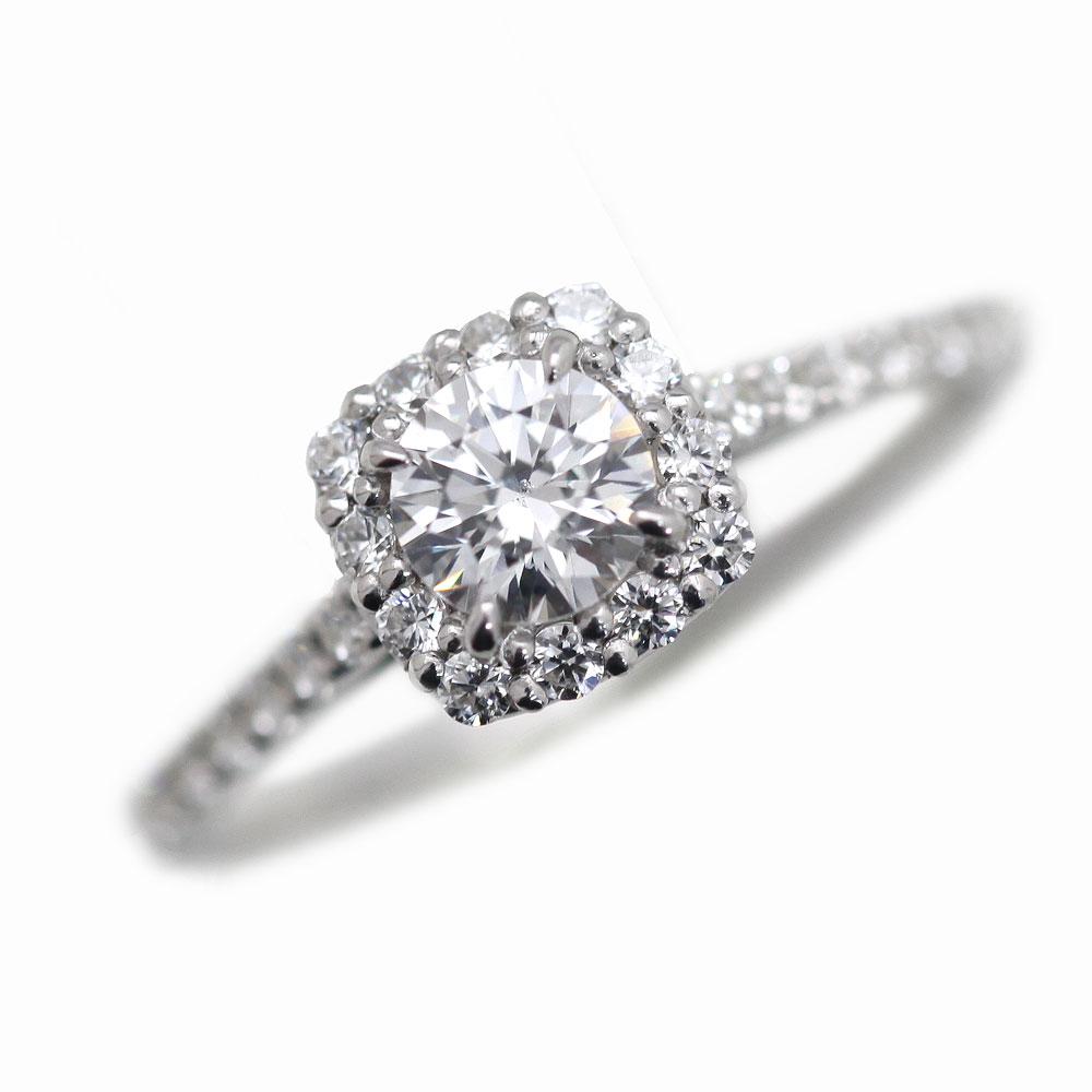 指輪 女性用 PT900(Pt90%) ダイヤモンド(0.3ct up)計0.56ct up リング レディースリング