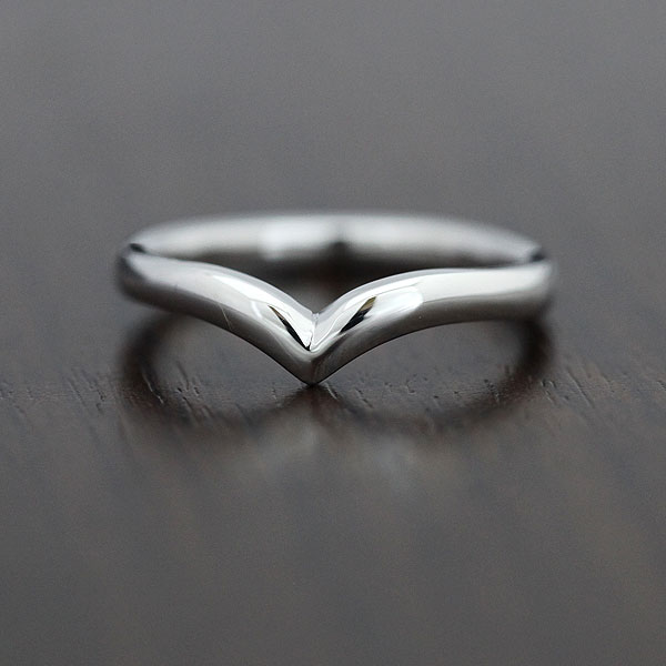 【SALE★30%以上OFF!】 【ポイント優待】 結婚指輪 K18WG シンプルリング マリッジリング K18 V字 ホワイトゴールド メンズリング サンキュークーポン
