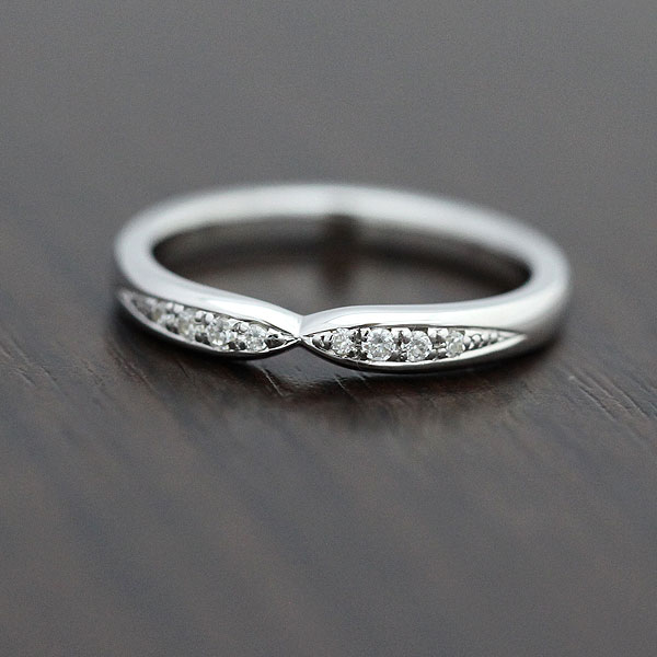 結婚指輪 リング プラチナ PT900(Pt90%) ダイヤモンド 0.07ct クロス レディースリング サンキュークーポン