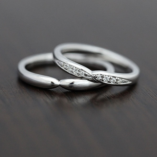 【SALE★30%以上OFF!】 【ポイント優待】 結婚指輪 ペアリング K18WG ダイヤモンド 0.07ct マリッジリング ホワイトゴールド クロス サンキュークーポン