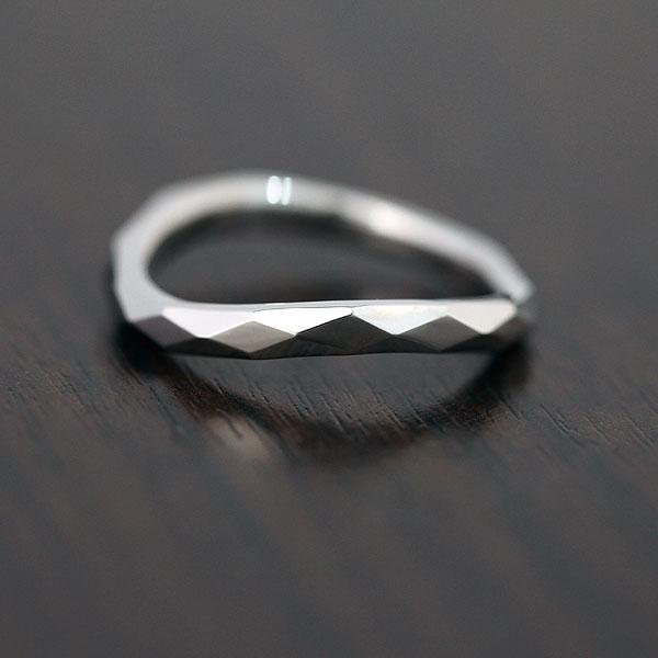 【SALE★30%以上OFF!】 【ポイント優待】 結婚指輪 K10WG シンプル マリッジリング ミラーカット ホワイトゴールド メンズリング サンキュークーポン