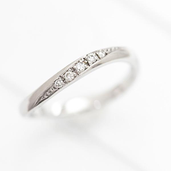結婚指輪 プラチナ PT100(Pt10%) ダイヤモンド 0.05ct ラインリング プラチナ レディースリング マリッジリング ホワイトデー ギフト プレゼント 彼女