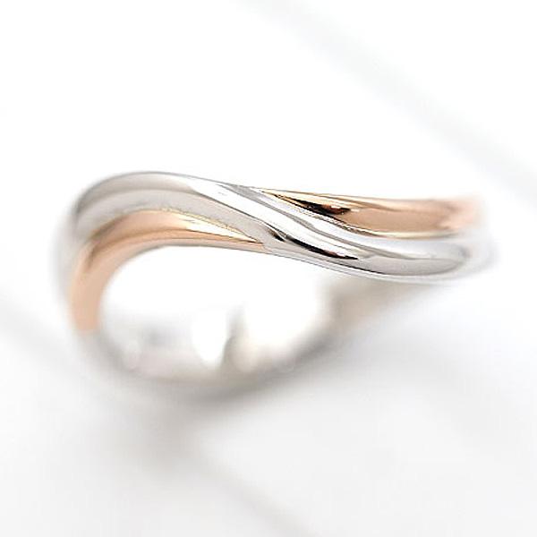 結婚指輪 リング プラチナ PT900(Pt90%)/K18PG ピンクゴールド マリッジリング コンビリング レディースリング サンキュークーポン