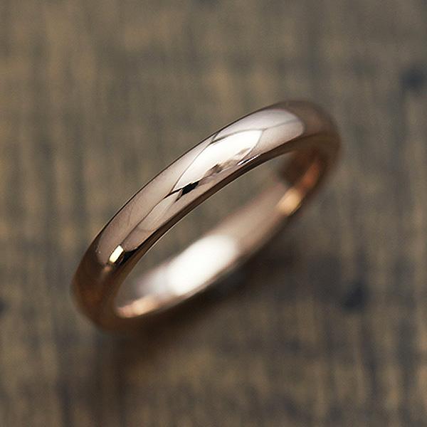 【SALE★30%以上OFF!】 【ポイント優待】 結婚指輪 K18PG シンプル 甲丸リング マリッジリング ピンクゴールド メンズリング サンキュークーポン