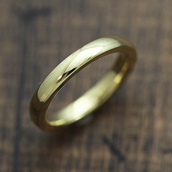 【SALE★30%以上OFF!】 【ポイント優待】 結婚指輪 K10YG シンプル 甲丸リング マリッジリング イエローゴールド メンズリング サンキュークーポン