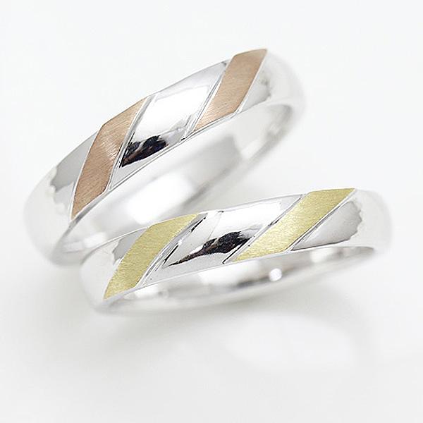 結婚指輪 プラチナ PT100(Pt10%) K18 ピンクゴールド イエローゴールド マリッジリング コンビ メンズリング サンキュークーポン