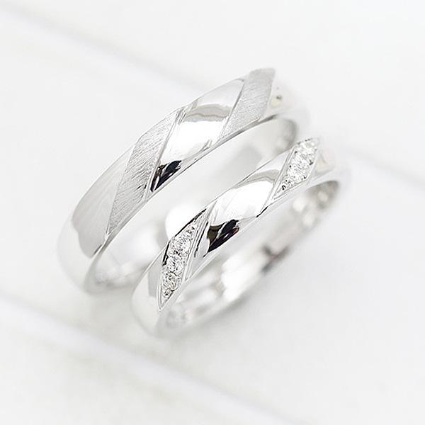 結婚指輪 ペアリング プラチナ PT100(Pt10%) ダイヤモンド 0.04ct マリッジリング サンキュークーポン