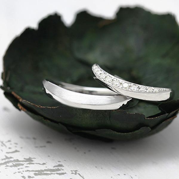 結婚指輪 ペアリング K10WG ダイヤモンド 0.14ct ホワイトゴールド マリッジリング サンキュークーポン