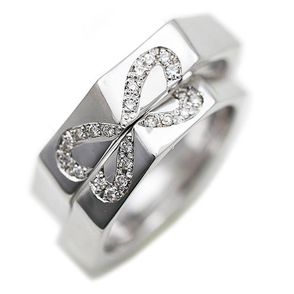 結婚指輪 ペアリング K18WG ホワイトゴールド 組み合わせ ハート ダイヤモンド マリッジリング サンキュークーポン