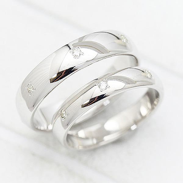結婚指輪 ペアリング プラチナ PT100(Pt10%) 0.07ct ダイヤモンド 幅広め マリッジリング サンキュークーポン