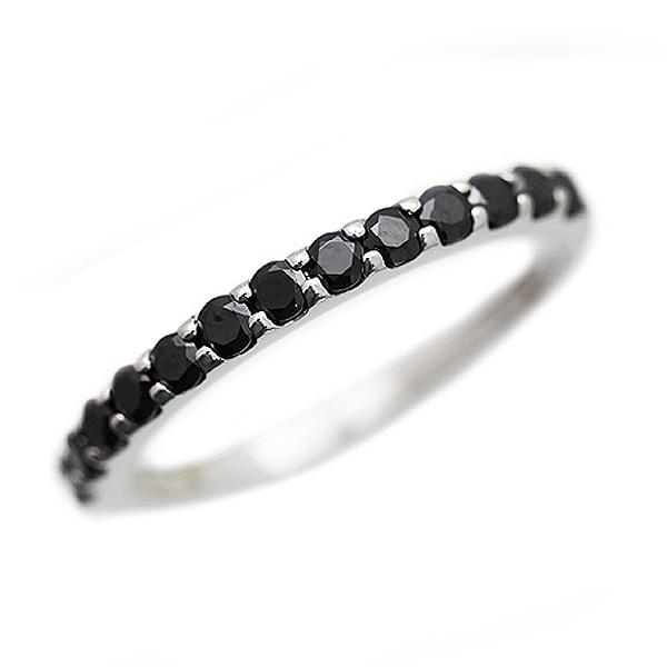 結婚指輪 PT900(Pt90%) ブラックダイヤモンド ハーフエタニティリング 0.5ct メンズリング サンキュークーポン