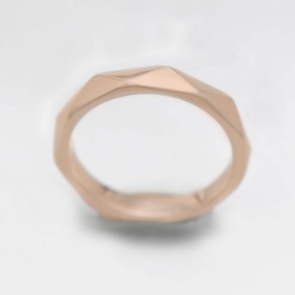 【SALE★30%以上OFF!】 【ポイント優待】 結婚指輪 K10PG ピンクゴールド マリッジリング ミラーカット メンズリング ギフト プレゼント 彼氏 男性