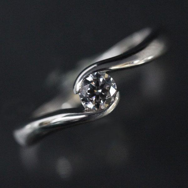 婚約指輪 プラチナリング 爪なし 天然ダイヤモンド 0.2Ct以上 VVS1 エクセレント PT900(Pt90%) エンゲージリング