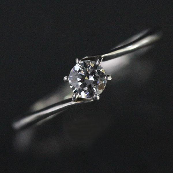 婚約指輪 プラチナリング ティファニー爪 ダイヤモンド 0.2ct以上 VVS1 エクセレント PT900(Pt90%) エンゲージリング