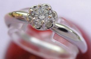 ◆即納◆ラザールダイヤモンドプラチナダイアリングエンゲージリング(婚約指輪)【楽ギフ_のし】【smtb-KD】