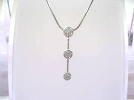 【THE LAZARE DIAMOND】ラザールダイヤモンド3ストーンダイアネックレス【楽ギフ_のし】【smtb-KD】