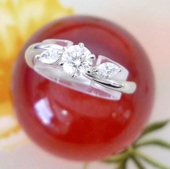 ◆即納◆ニナ リッチプラチナダイアモンドリングエンゲージリング【楽ギフ_のし】【smtb-KD】