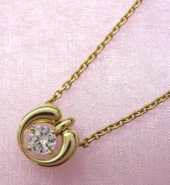 ◆即納◆QUEEN クィーンK18ダイアモンド ネックレス【楽ギフ_のし】【smtb-KD】