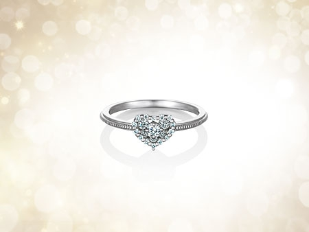 ◆送料無料◆et toi(エトワ)Diagram - Round Sweetプラチナダイアモンドリング【楽ギフ_のし】【smtb-KD】
