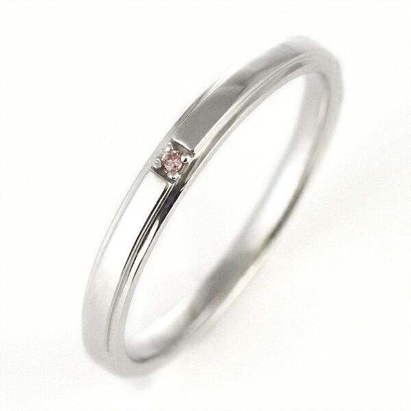 ピンクダイヤモンド ペアリング 結婚指輪 マリッジリング K18ホワイトゴールド【DEAL】
