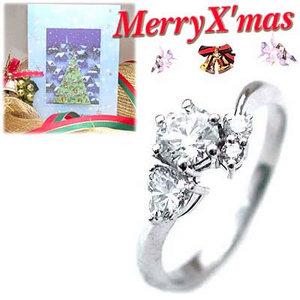 クリスマス限定Xmasカード付CanCam掲載( 婚約指輪 ) ダイヤモンド プラチナエンゲージリング( 4月誕生石 ) ダイヤモンド