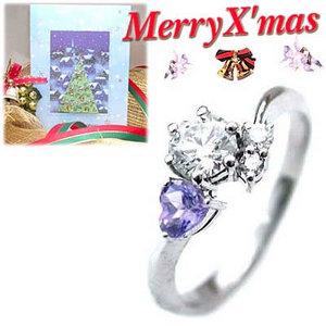 クリスマス限定Xmasカード付CanCam掲載( 婚約指輪 ) ダイヤモンド プラチナエンゲージリング( 12月誕生石 ) タンザナイト