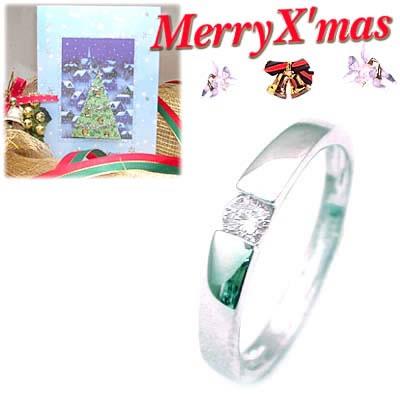 クリスマス限定Xmasカード付( 4月誕生石 ) K18ホワイトゴールド ダイヤモンドデザインリング【DEAL】
