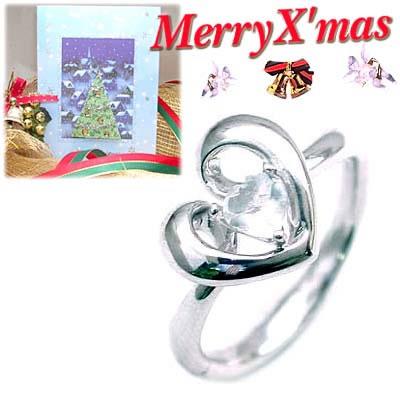 クリスマス限定Xmasカード付( 6月誕生石 ) K18ホワイトゴールド ムーンストーンデザインリングCanCam掲載
