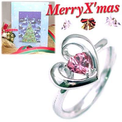 クリスマス限定Xmasカード付( 10月誕生石 ) K18ホワイトゴールド ピンクトルマリンデザインリングCanCam掲載