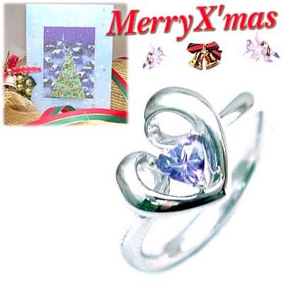 クリスマス限定Xmasカード付( 12月誕生石 ) K18ホワイトゴールド タンザナイトデザインリングCanCam掲載