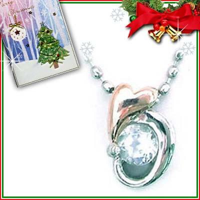 クリスマス限定Xmasカード付( 6月誕生石 ) プラチナ K18PGムーンストーンペンダントネックレス