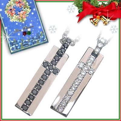 クリスマス限定Xmasカード付( Brand Jewelry with me. ) シルバーペアペンダントネックレス【DEAL】