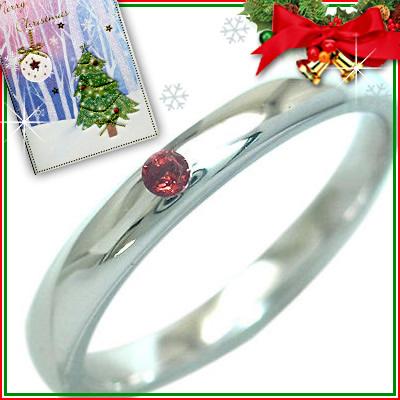 クリスマス限定Xmasカード付( 1月誕生石 ) シルバー ガーネットリング【DEAL】
