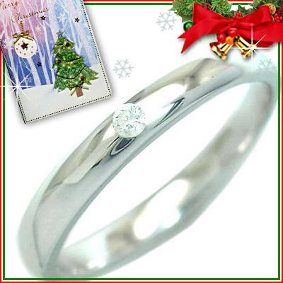 クリスマス限定Xmasカード付( 4月誕生石 ) シルバー ダイヤモンドリング【DEAL】