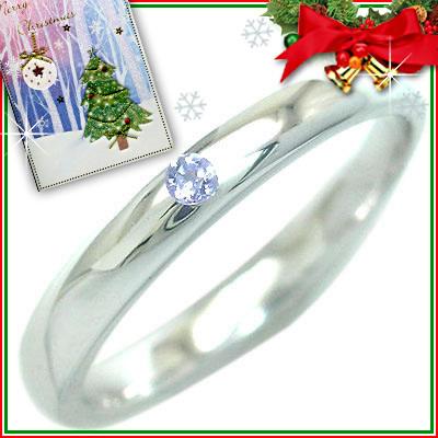 クリスマス限定Xmasカード付( 12月誕生石 ) シルバー タンザナイトリング【DEAL】