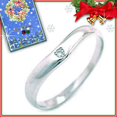 クリスマス限定Xmasカード付CanCam掲載( 4月誕生石 ) Pt ダイヤモンドデザインリング