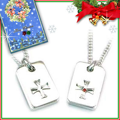 クリスマス限定Xmasカード付( 1月誕生石 ) SVガーネットペアネックレス【DEAL】