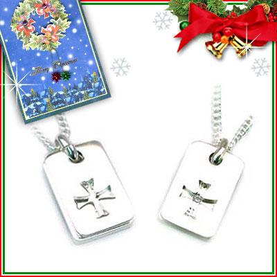 クリスマス限定Xmasカード付( 6月誕生石 ) SVムーンストーンペアネックレス【DEAL】